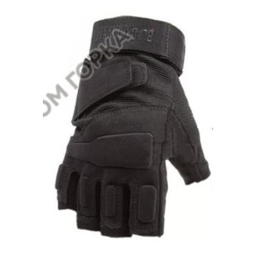 Тактические перчатки беспалые SWAT Black