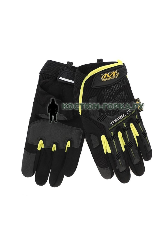 Перчатки Mechanix M-Pact Red and black Yellow (replic)