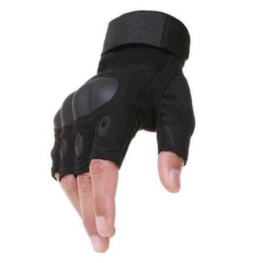 Тактические беспалые перчатки Oakley-Black (replic)